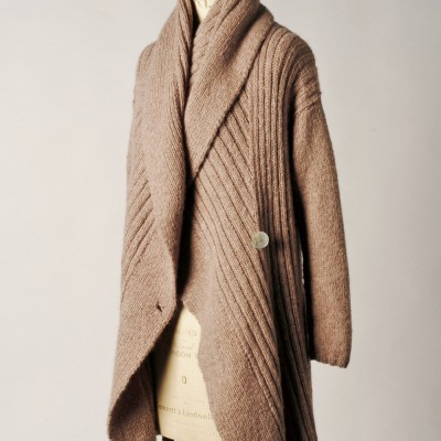 shawl-collar wrap coat