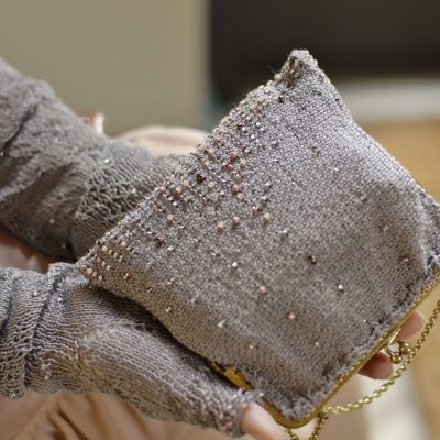 Beaded Bag & Mitts- A Handknit Romance