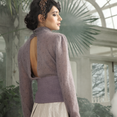 Elegant sweater - Rowan/Swarovski