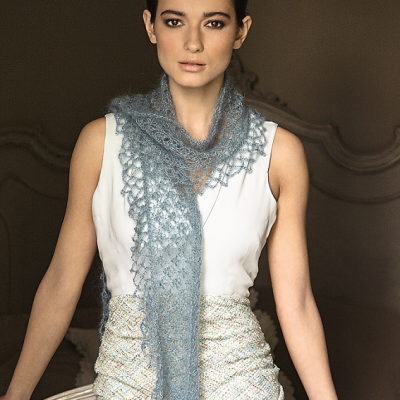 Triangular scarf - Rowan/Swarovski